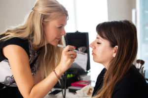 Brautstyling mit Airbrush Makeup